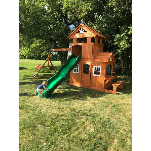 Shop Backyard Discovery Shenandoah All Cedar Swing Set Play Set - Free  Shipping Today - Overstock.com - 10755654 - Shop Backyard Discovery Shenandoah All Cedar Swing Set Play Set