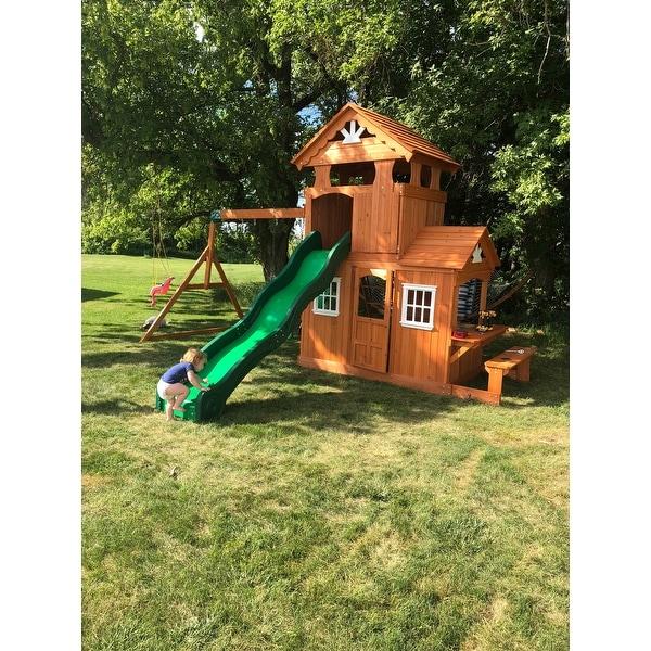 Shop Backyard Discovery Shenandoah All Cedar Swing Set Play Set