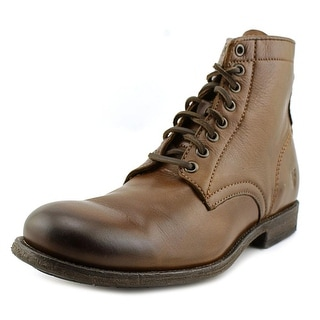 Frye Tyler Lace Up Men  Round Toe Leather Brown Boot