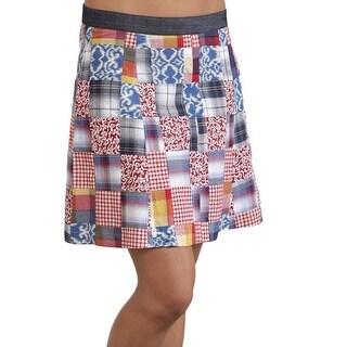 Stetson Western Skirt Womens Patchwork Flare Blue 11-060-0590-0476 MU