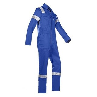 Walls Fr-Industries Mens Blue Reflector Coveralls For Work Wear 50 Regular