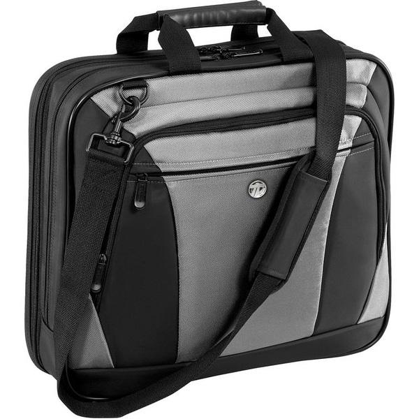 Targus Citylite Notebook Case, Nylon, 15-3/4W X 4D X 13-3/4H, Black/Gray