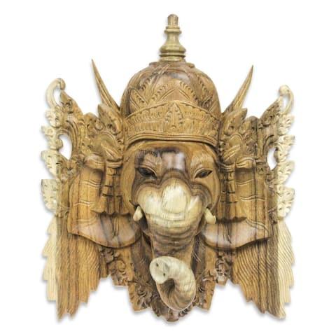 Handmade Ganesha Wood Mask (Indonesia)