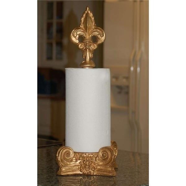 Shop Hickory Manor Home Fleur De Lis Top Paper Towel Holder Gold
