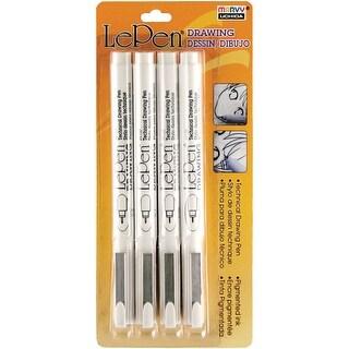 LePen Technical Drawing Set 4/Pkg-.05mm, .1mm, .5mm, .8mm Bl - .05mm, .1mm, .5mm, .8mm black