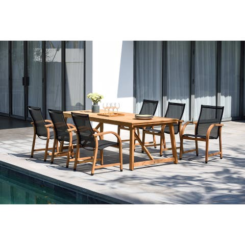 Life Style Garden 7-pc. Teak/Aluminum Patio Dining Set