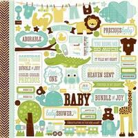 "Bundle Of Joy Boy Cardstock Stickers 12""X12""-Element"