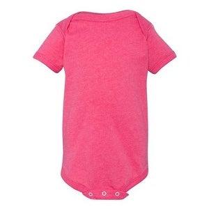 Infant Vintage Fine Jersey Bodysuit - Vintage Hot Pink - 12M