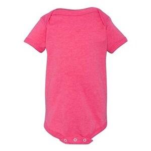 Infant Vintage Fine Jersey Bodysuit - Vintage Hot Pink - 18M