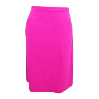 Kasper Women's Petite Stretch Crepe Skirt (2P, Pink Perfection) - pink perfection - 2p