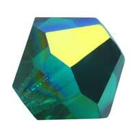 Preciosa Czech Crystal Beads 6mm Bicone 'Emerald AB' (20)