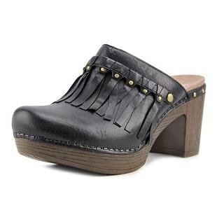 Dansko Deni Full Grain Women Round Toe Leather Black Mules