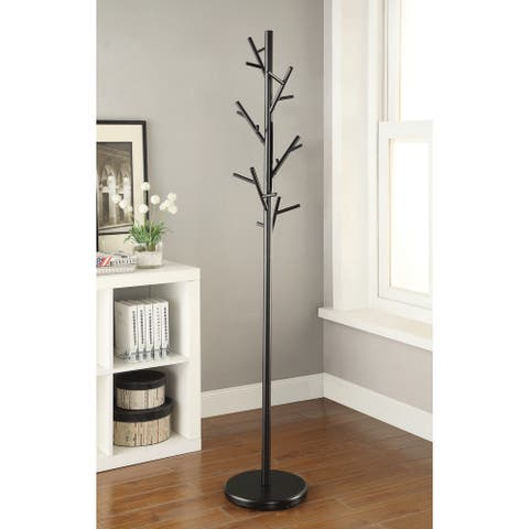 Modern Black Hall Tree Branch Metal Coat Rack