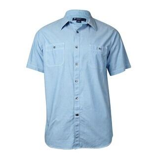 Cremieux Men's Classics Stitched Detail Cotton Shirt - L
