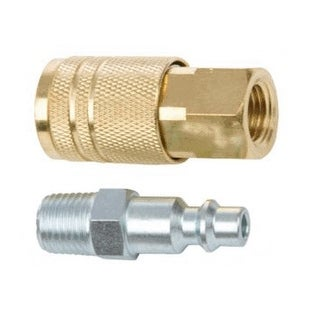 """Forney 75305 Air Fitting Male Plug And Female Coupler Set, 1/4"""" x 1/4"""""""