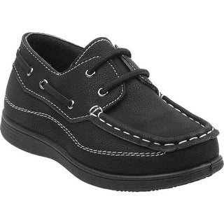 Josmo Boys' O-80383B Slip-on Boat Shoe Black