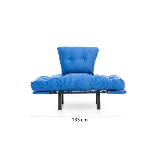 Neill Metal Frame Tufted Cushions Sleeper Chair