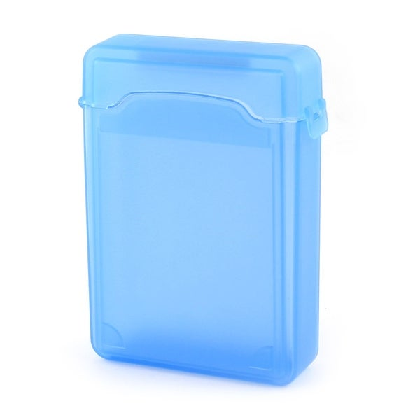 Blue Plastic 3.5 HDD Protector Storage Hard Drive External Case Box Guard