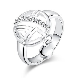 White Gold Clock Wise Ring