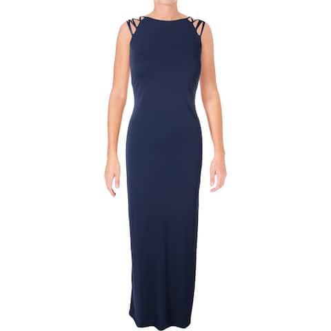 Lauren Ralph Lauren Womens Charissa Evening Dress Sleeveless Full-Length