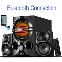 Boytone BT-324F, 2.1 Bluetooth powerful home theater speaker systems, with FM Radio, SD USB ports, digital play back, 40 watts,