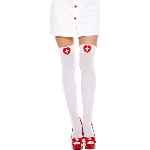 a3b0bf8f1c1 Shop Heart Cross Thigh High Stockings