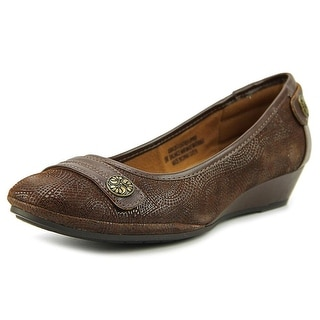 Comfortiva Anne   Open Toe Leather  Wedge Heel
