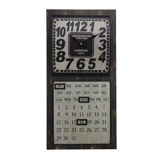 Kensington Station Wall Clock and Magnetic Perpetual Calendar