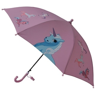 Foxfire Girls Pink Dome Unicorn Whistle Umbrella 29""