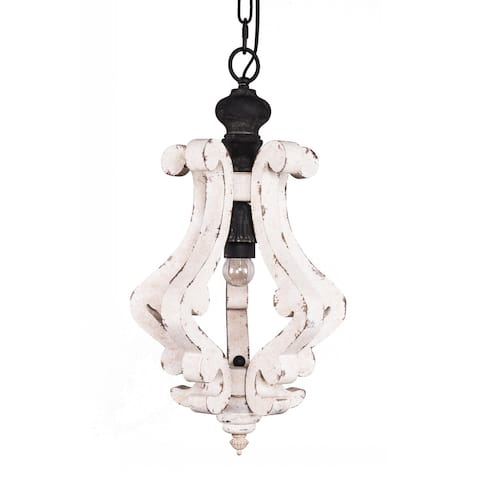 Cottage Rustic Wooden Chandelier Pendant