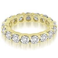 4.25 cttw. 14K Yellow Gold Round Diamond Eternity Ring