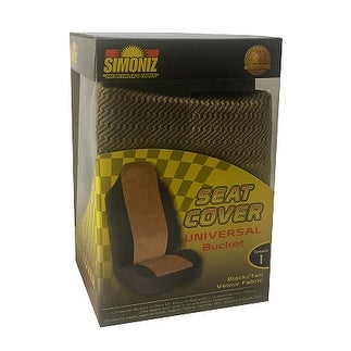 Simoniz Universal Bucket Seat Cover Black and Tan