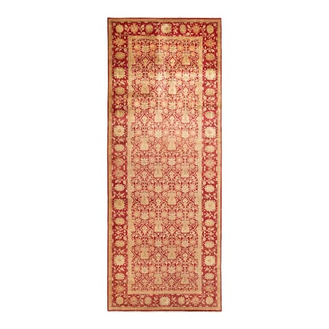 """Eclectic, One-of-a-Kind Hand-Knotted Runner - Red, 6' 0"""" x 15' 10"""" - 6' 0"""" x 15' 10"""""""