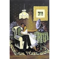 ''Love Song'' by Annie Lee African American Art Print (26.75 x 22.75 in.)