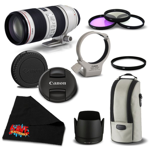 Canon EF 70-200mm f/2.8L IS II USM Telephoto Zoom Lens 2751B002 Bundle- International Version