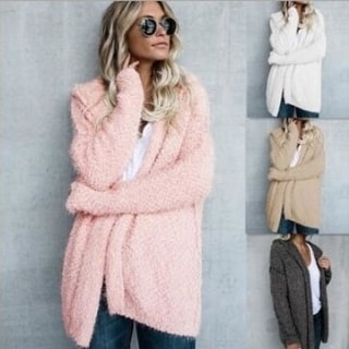 Link to Women Fleece Sweater Hooded Oversized Loose Sweater Cardigan Outwear Coat Similar Items in Women's Sweaters