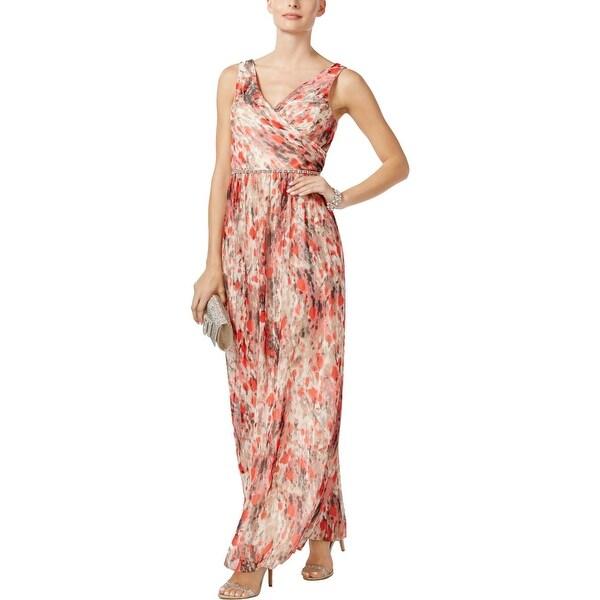 ee16f5d8fae72 Shop SL Fashions Womens Maxi Dress Metallic Printed Surplice - Free ...