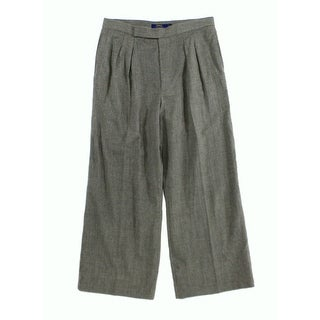 Polo Ralph Lauren NEW Gray Women's Size 14X28 Pleated Dress Pants Wool