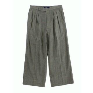 Polo Ralph Lauren NEW Gray Womens Size 8 Wide Leg Wool Dress Pants