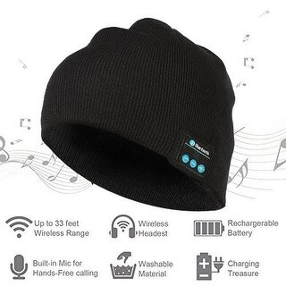 Bluetooth Beanie Winter Hat, Wireless Beanie Headphones, Winter Hat with Stereo Speaker.