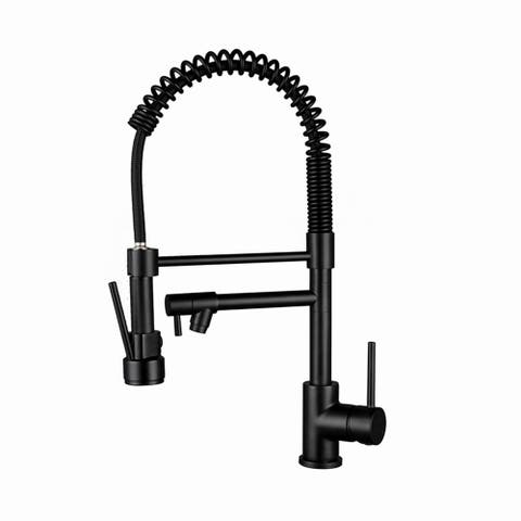 Single Handle Pull-down Kitchen Faucet Matte Black
