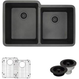"Rene by Elkay R3-1001-CGF Rene 32-1/2"" Double Basin Composite Granite Kitchen Si"