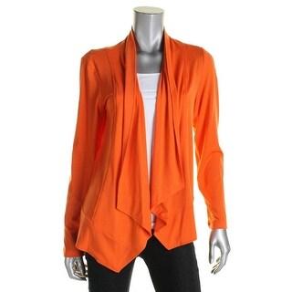Grace Elements Womens Cardigan Top Drape Long Sleeves