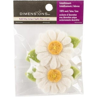Dimensions 72-74381 White Daisies Felt Appliques