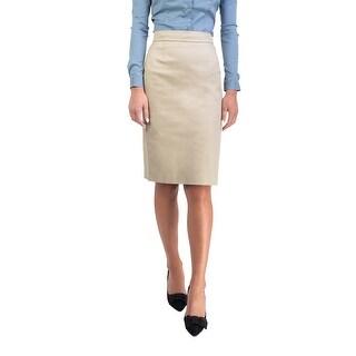 Prada Women's Cotton Skirt Khaki - 4