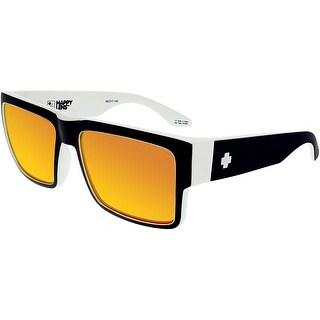 Spy Men's Cyrus 673180209365 Black/White Square Sunglasses