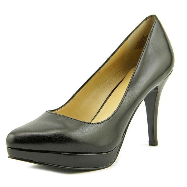 Nine West Prisilla Round Toe Leather Heels