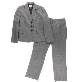 Le Suit Womens Heathered Pattern Pant Suit