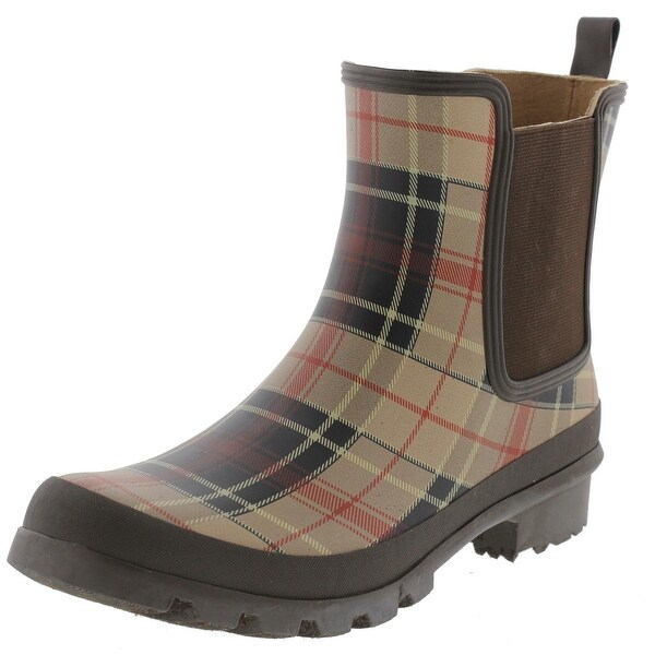 Nine West Womens Xia Rain Boots Rubber Chelsea