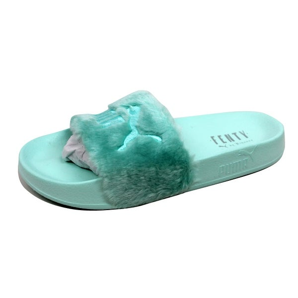 Puma Women's Fur Slide Bay/Puma Silver 365772 01